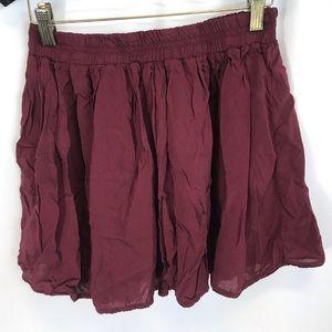 Brandy Melville maroon skirt one size